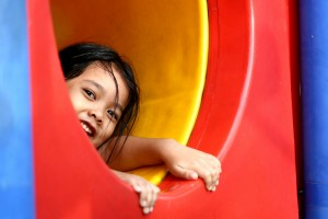 girl in slide