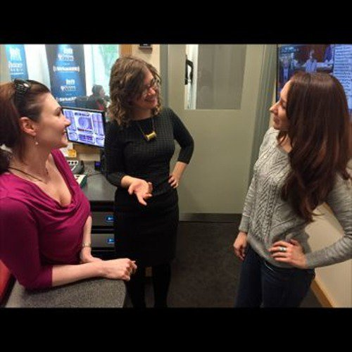 Dawn, Michelle, and Carrie in studio